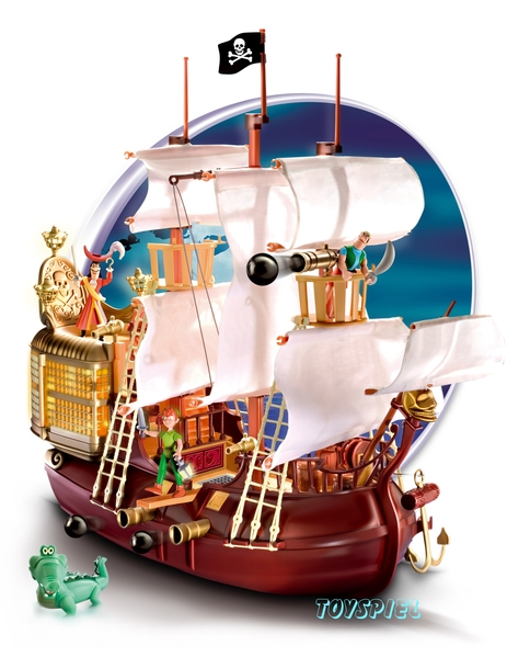 disney heroes peter pan piratenschiff gross von famosa toyspiel. Black Bedroom Furniture Sets. Home Design Ideas