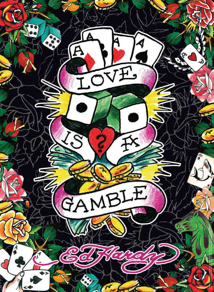 Ravensburger Puzzle 500 Teile Ed Hardy Love Is A Gamble Toyspiel